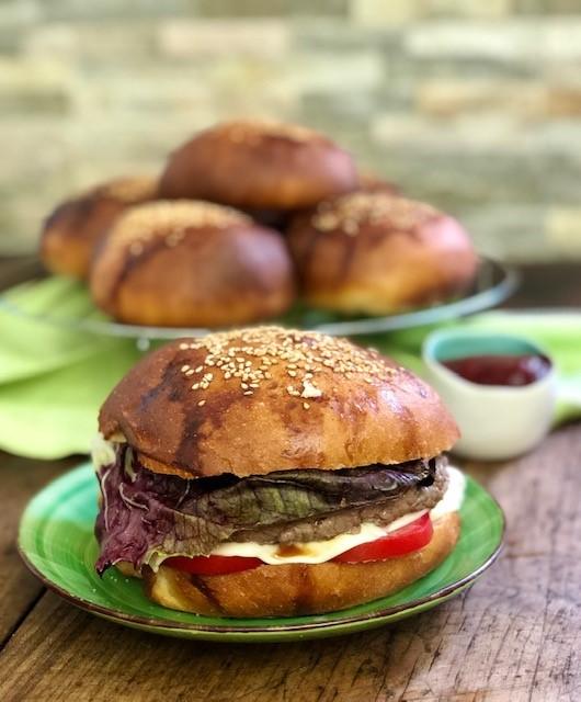 Panini per burger o burger buns
