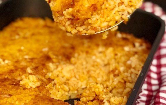 Risotto pomodoro e formaggio al forno