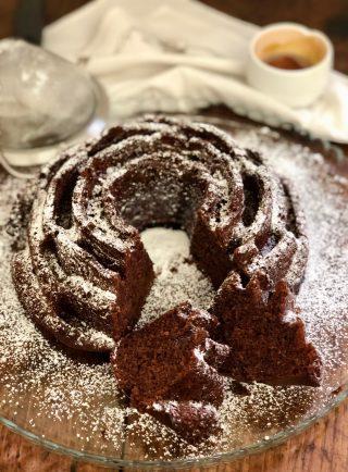 Torta di panna montata e cacao