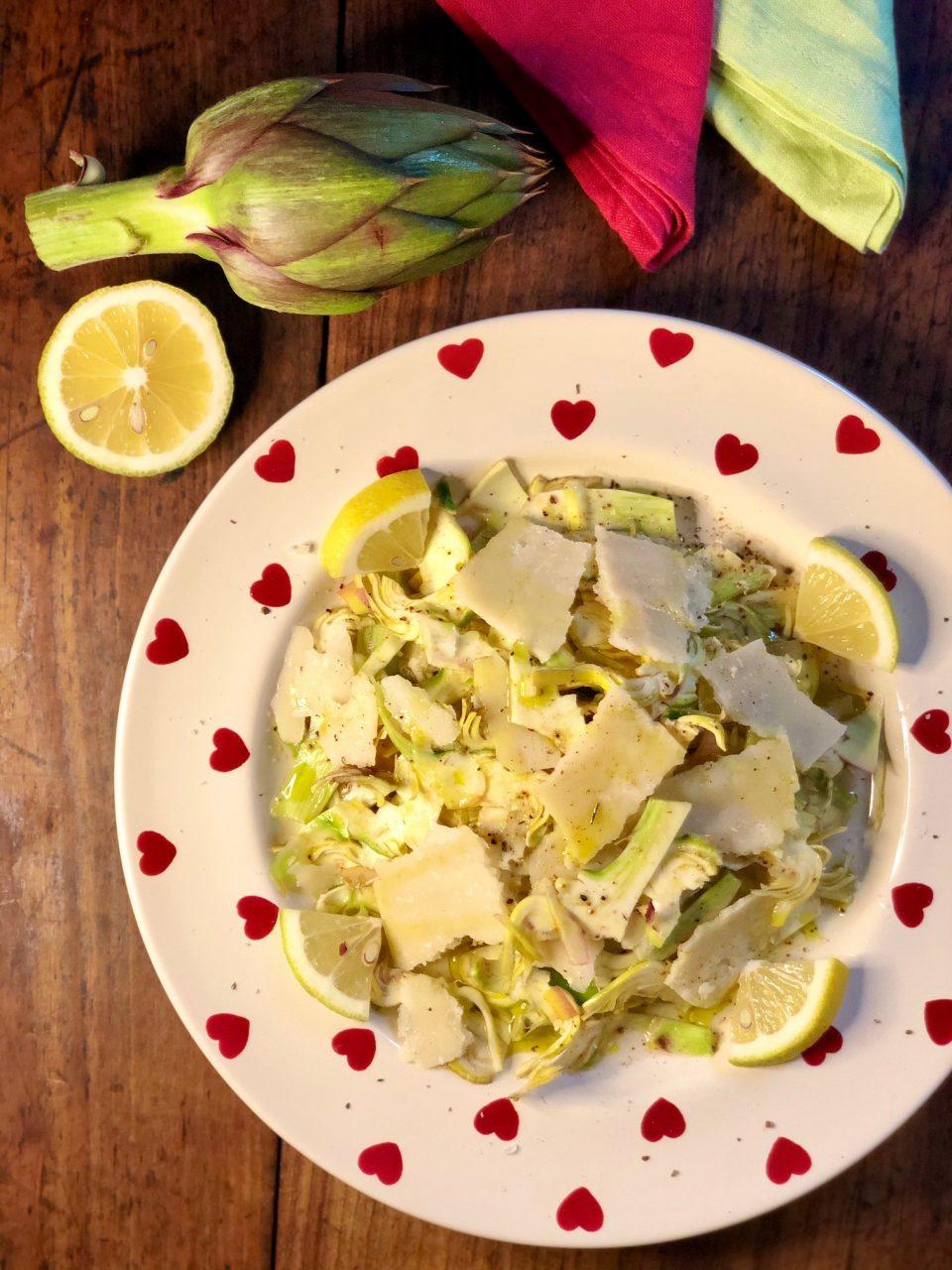 Carciofi crudi in insalata