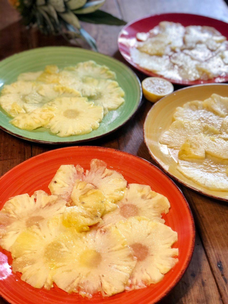 Carpaccio di ananas