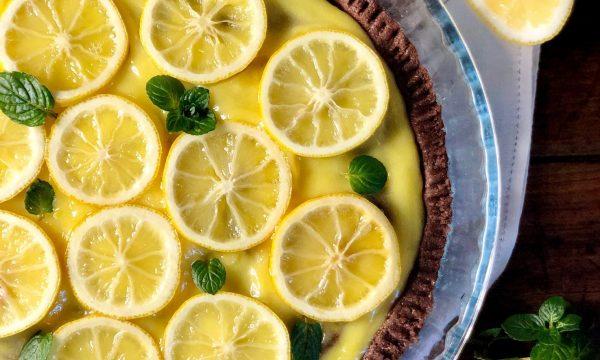 Crostata al cacao e limoni