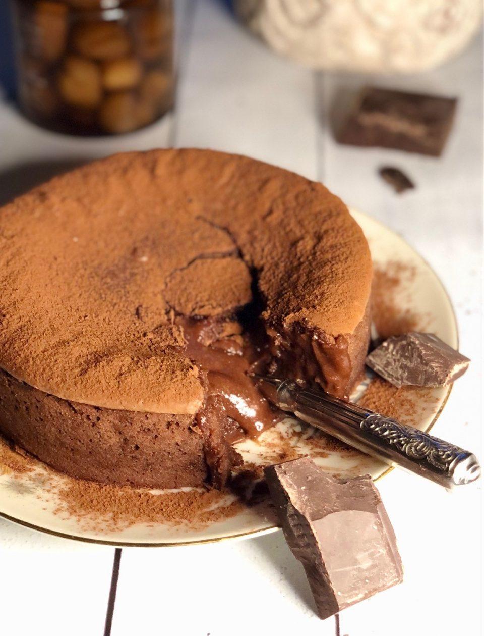 Moelleux al cioccolato e crema di marroni
