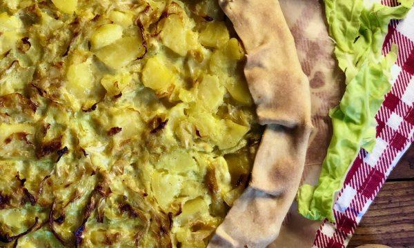 Torta salata di patate e verza