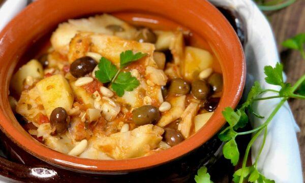 Stoccafisso accomodato con patate alla ligure