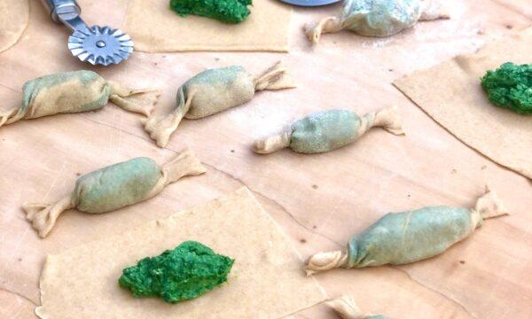 Caramelle ripiene di ricotta e spinaci