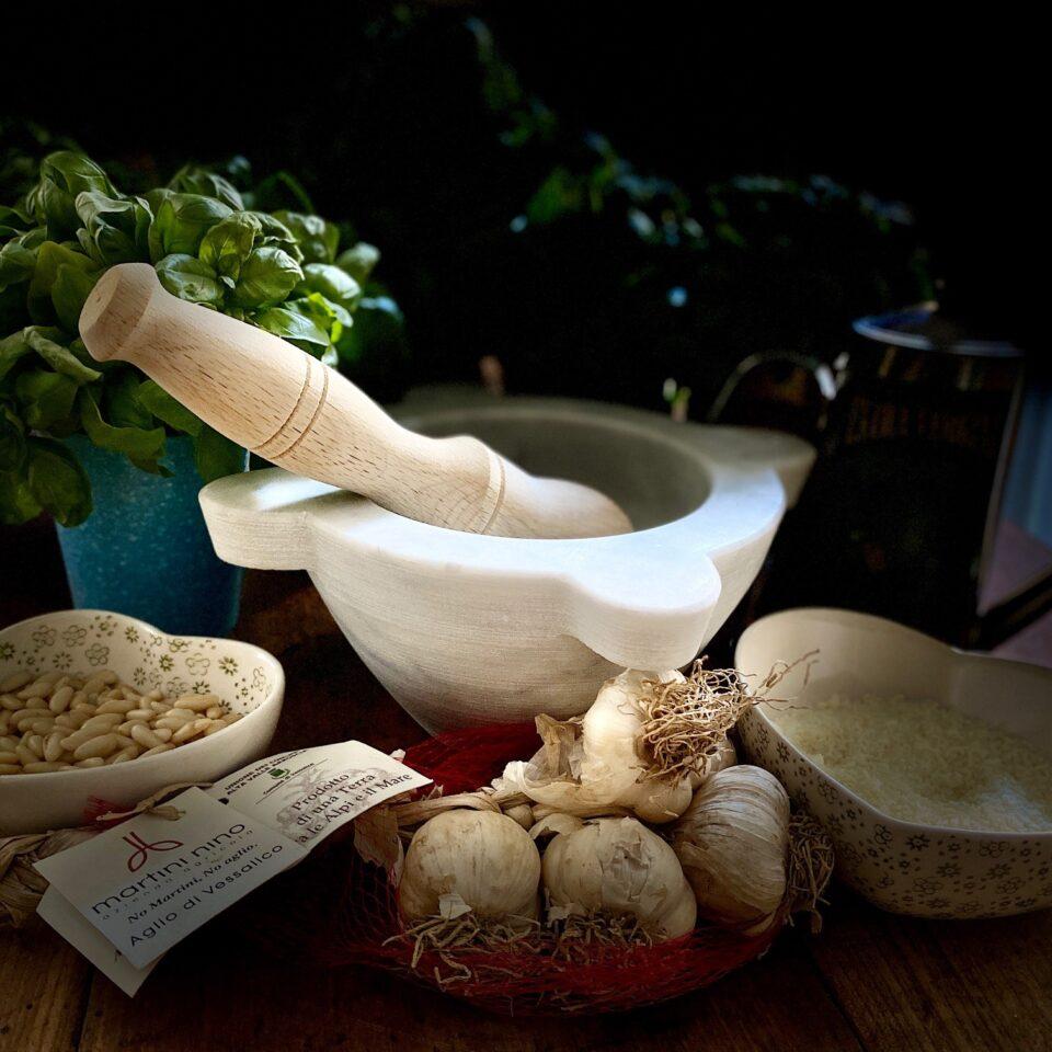 Pesto genovese al mortaio