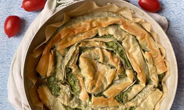Torta salata di spinaci con pasta fillo