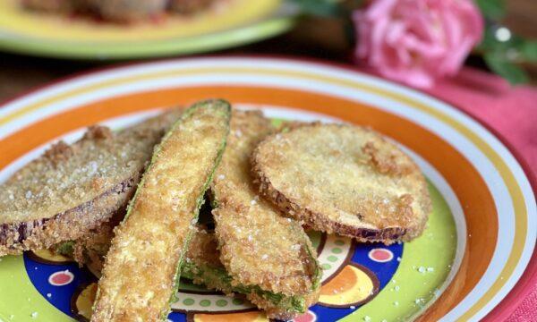 Melanzane e zucchine impanate con pane panko