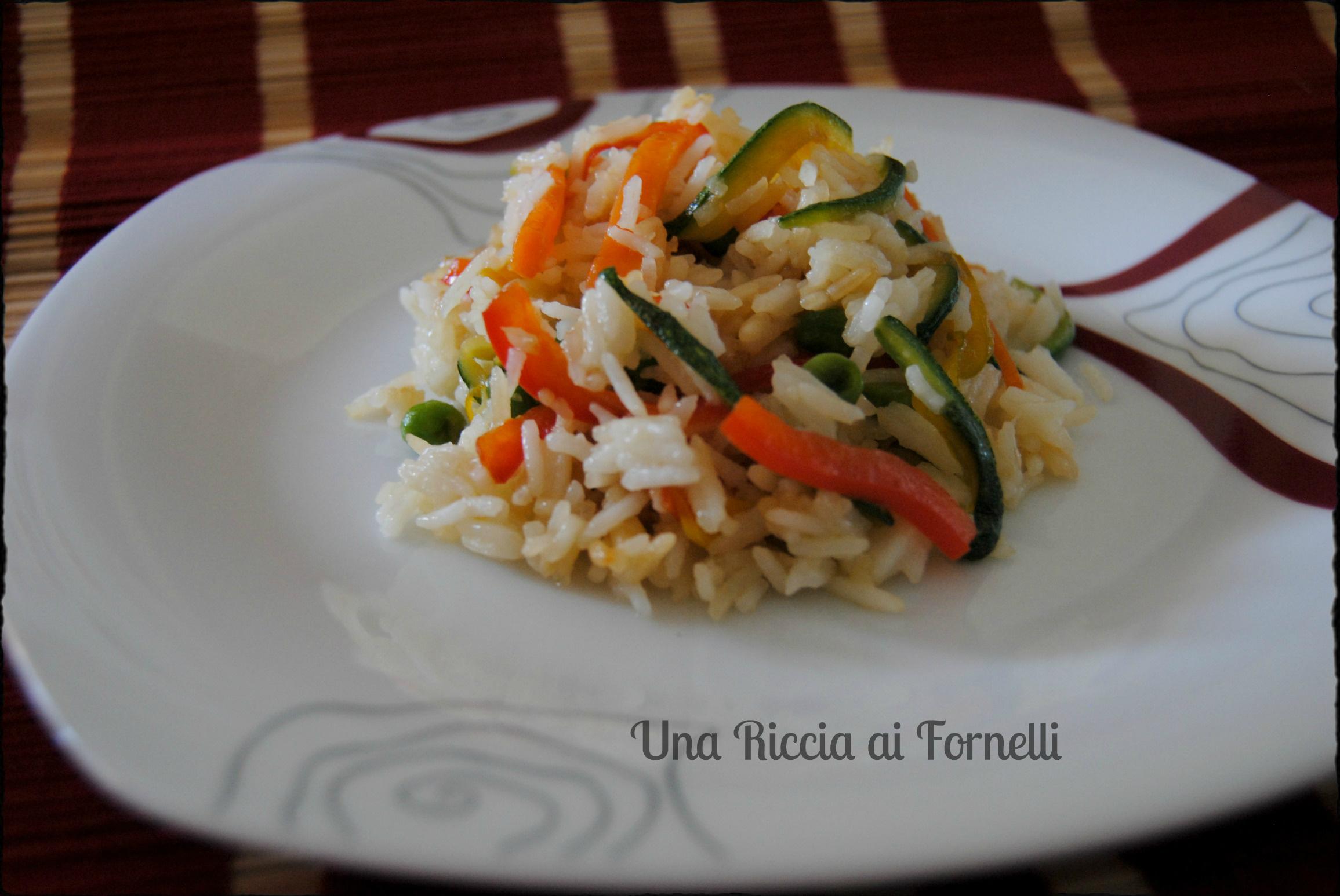 riso dietetico con verdure