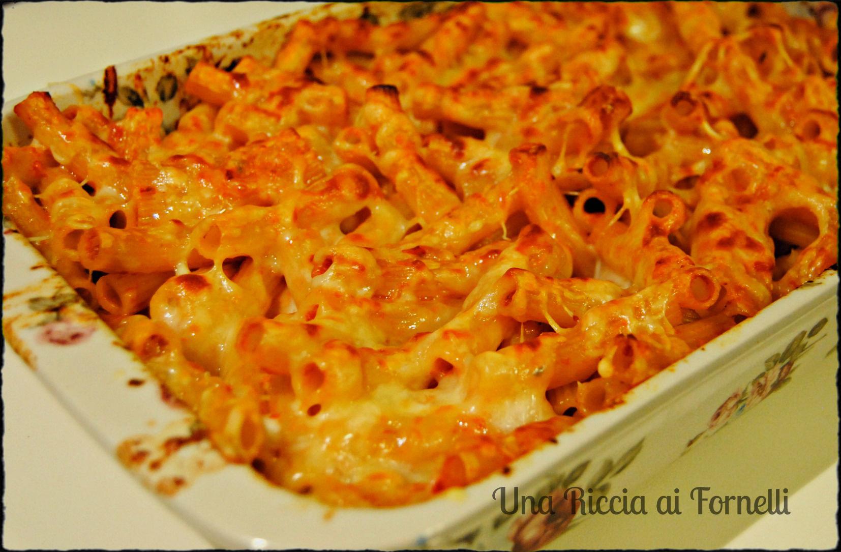 Pasticcio di pasta al forno ricetta golosa una riccia for Ricette di pasta