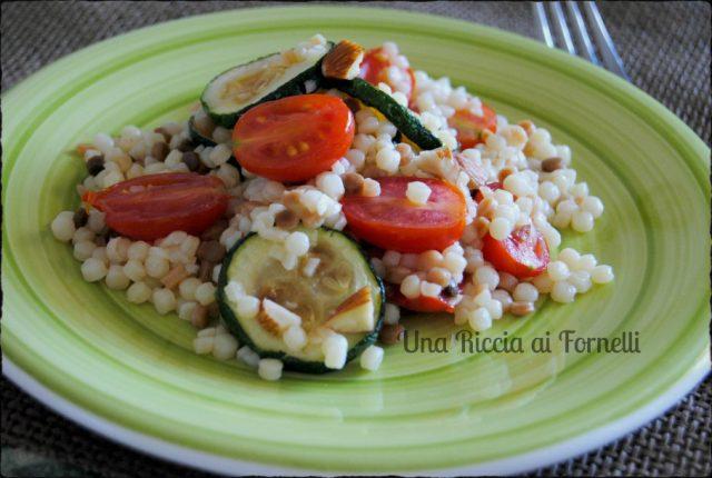 fregola sarda con zucchine e pomodori