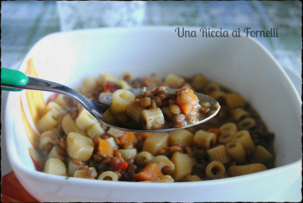 Pasta e lenticchie ricetta con lenticchie come - Come cucinare le lenticchie con cotechino ...