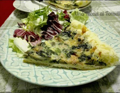 Torta salata con spinaci, funghi e zenzero