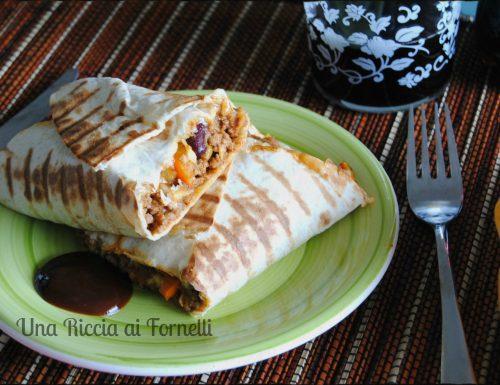 Burritos di carne tex-mex