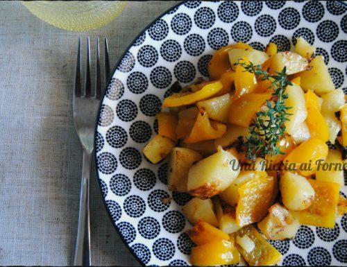 Patate e peperoni al timo