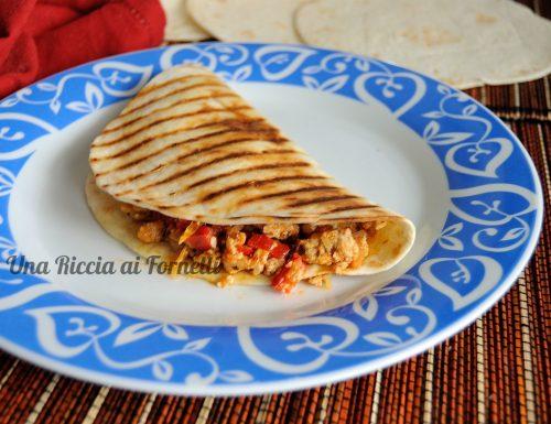Tortillas con maiale e peperoni