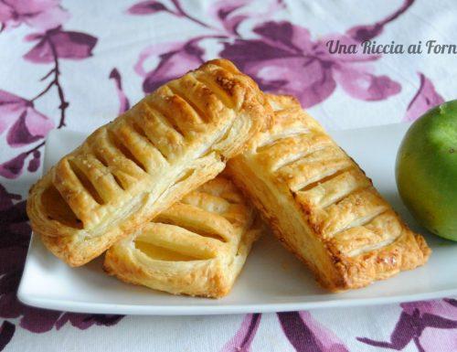 Sfogliatine di mele con crema pasticcera