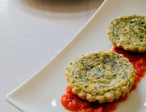 Frittatina di spinaci al pomodoro