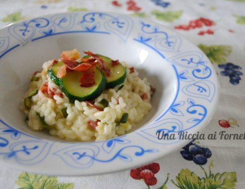 Risotto zucchine e speck