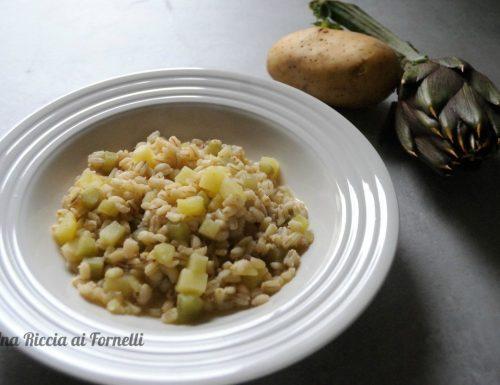 Orzotto con carciofi e patate