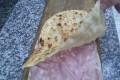 Pizza ripiena con mortadella