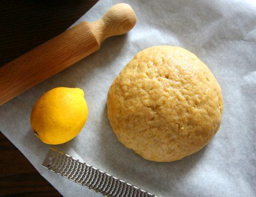 Pasta frolla semi integrale all'olio