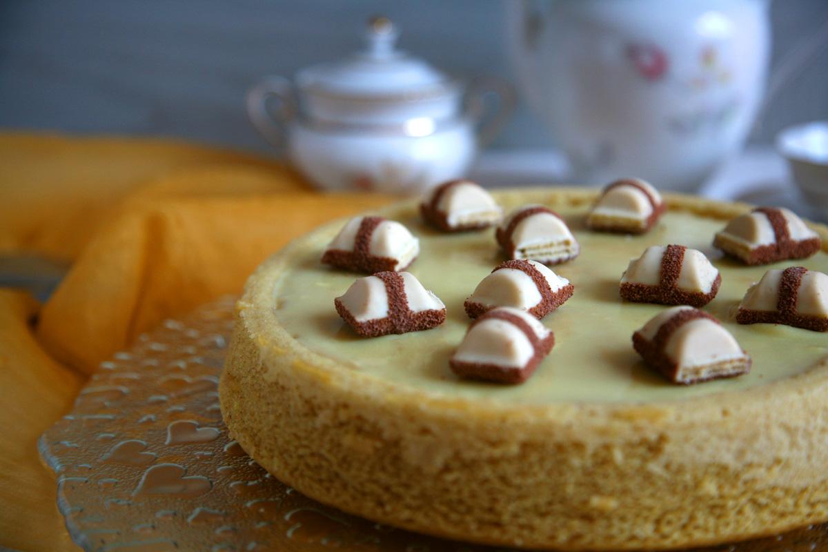 Crostata morbida con crema di nocciole al cioccolato bianco