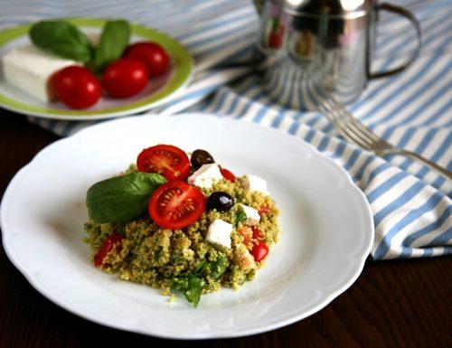 Cous cous integrale pomodori feta e olive