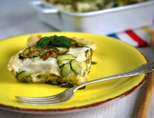 Lasagne zucchine mozzarella e noci