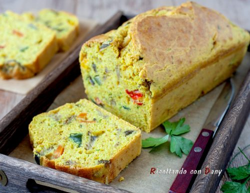 Plumcake salato semi integrale alle verdure e curry