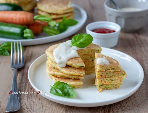 Pancake salati carote e zucchine