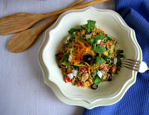 Cous cous integrale con verdure croccanti