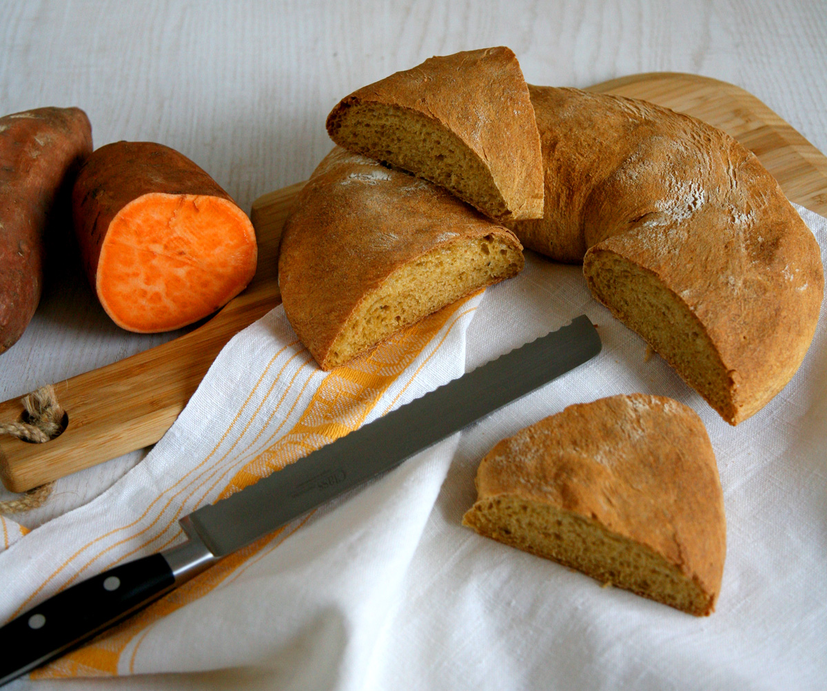 Pane alle patate dolci arancioni