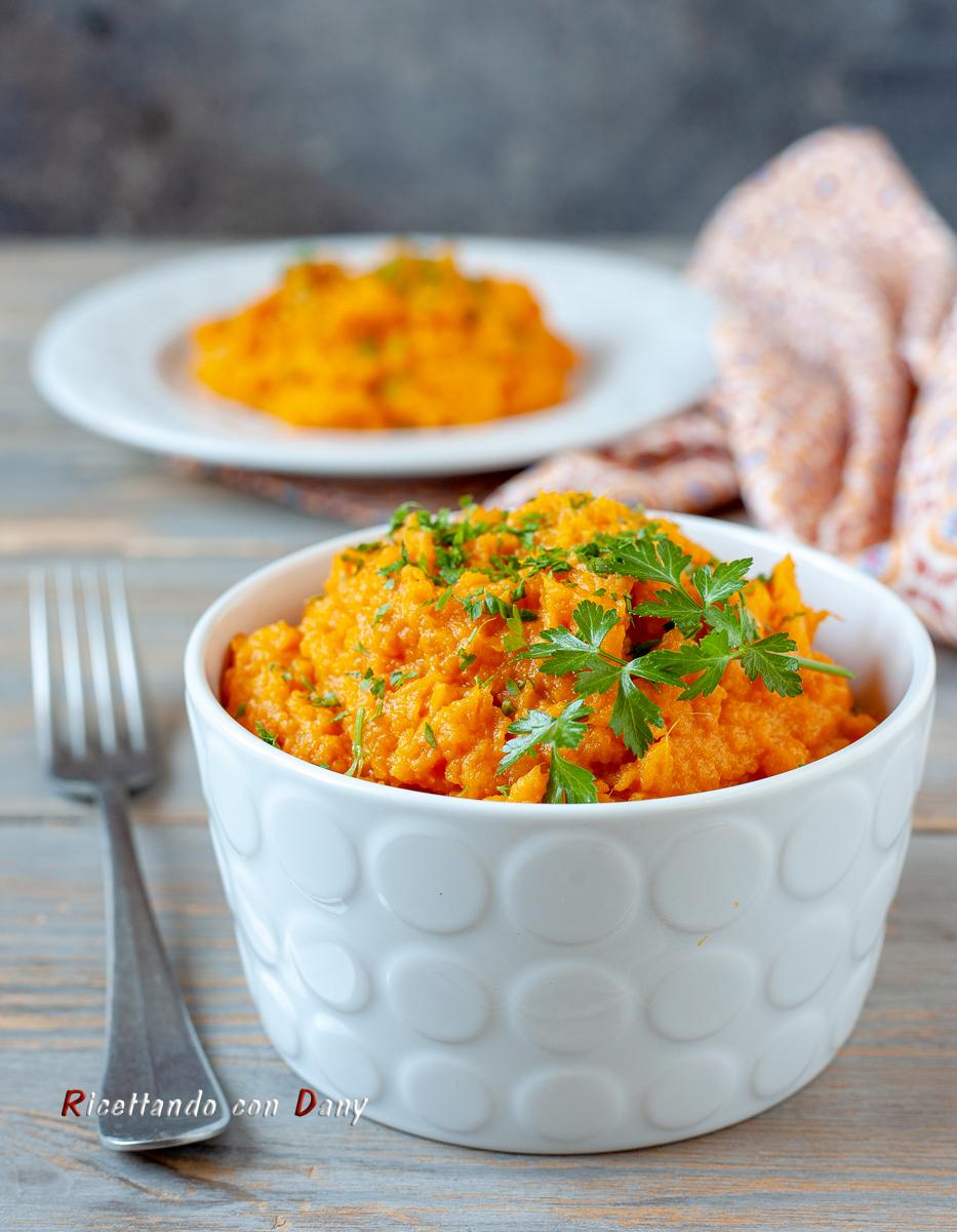 Purè di patate dolci arancioni