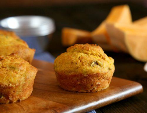 Muffin salati zucca e olive