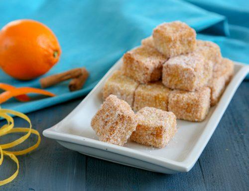 Frittelle di semolino con arancia e cannella