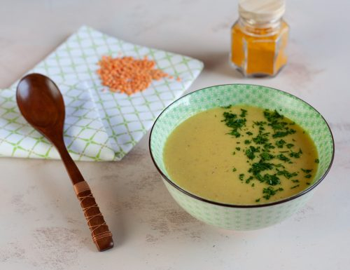 Crema di lenticchie rosse al curry
