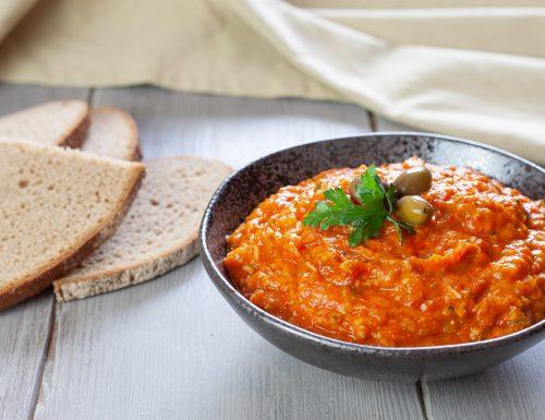 Crema di peperoni rossi alle olive