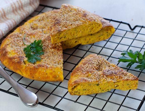 Focaccia alle carote in padella