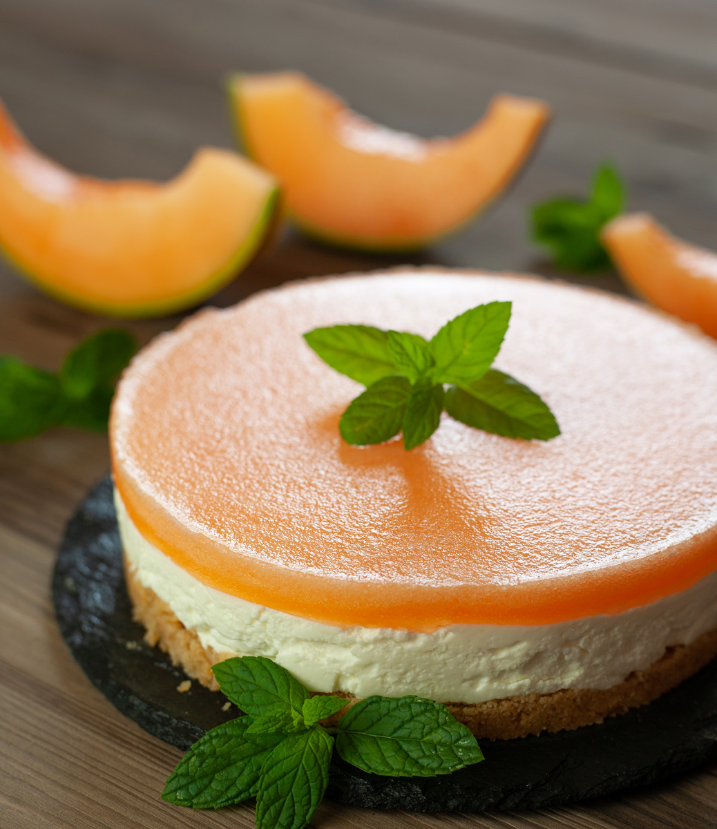 Cheesecake al melone senza cottura senza uova