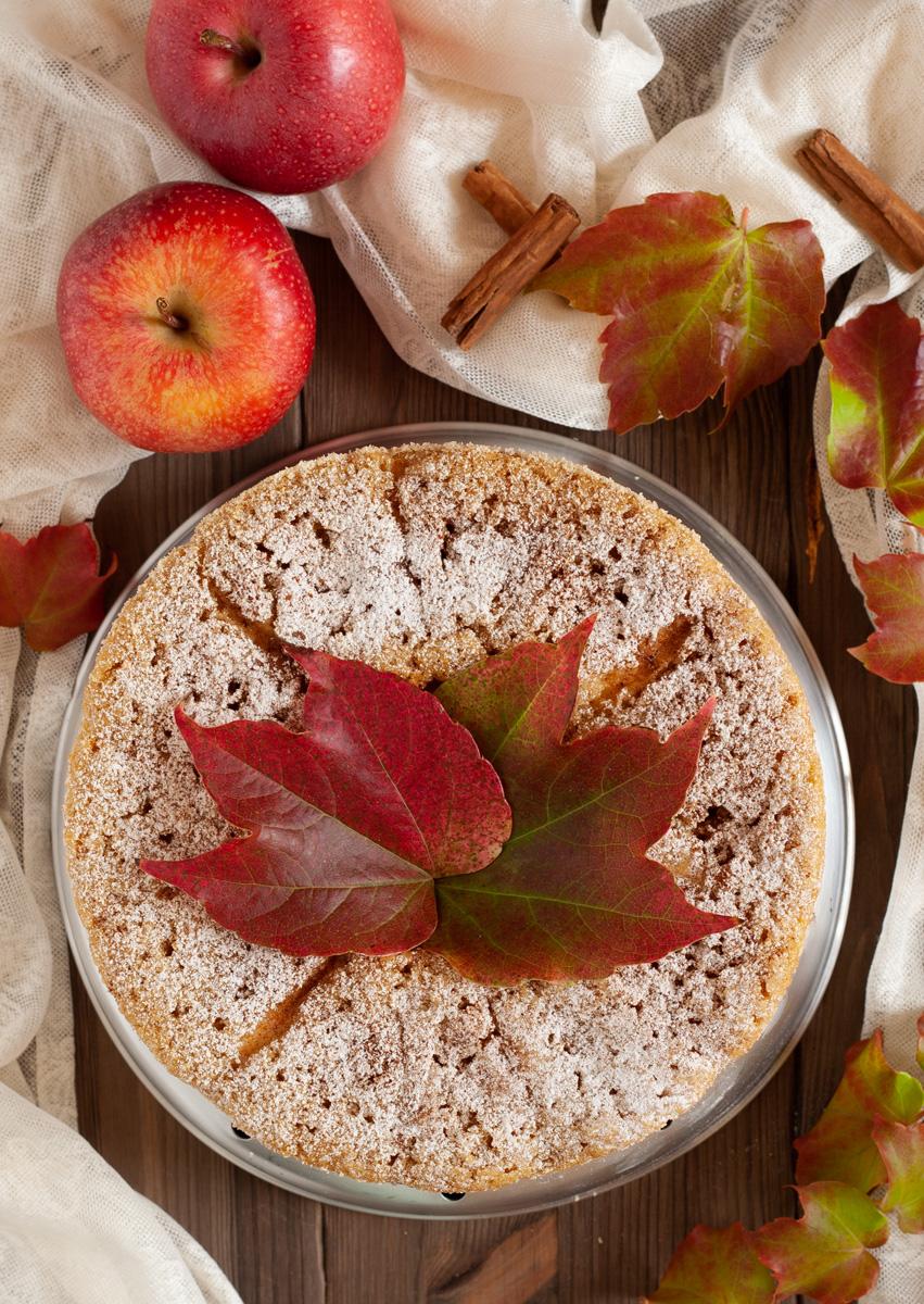 Ciambella pan di mele al latte condensato
