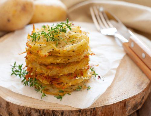 Rosti di patate e timo al forno