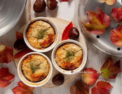 Sformatini di castagne e gorgonzola