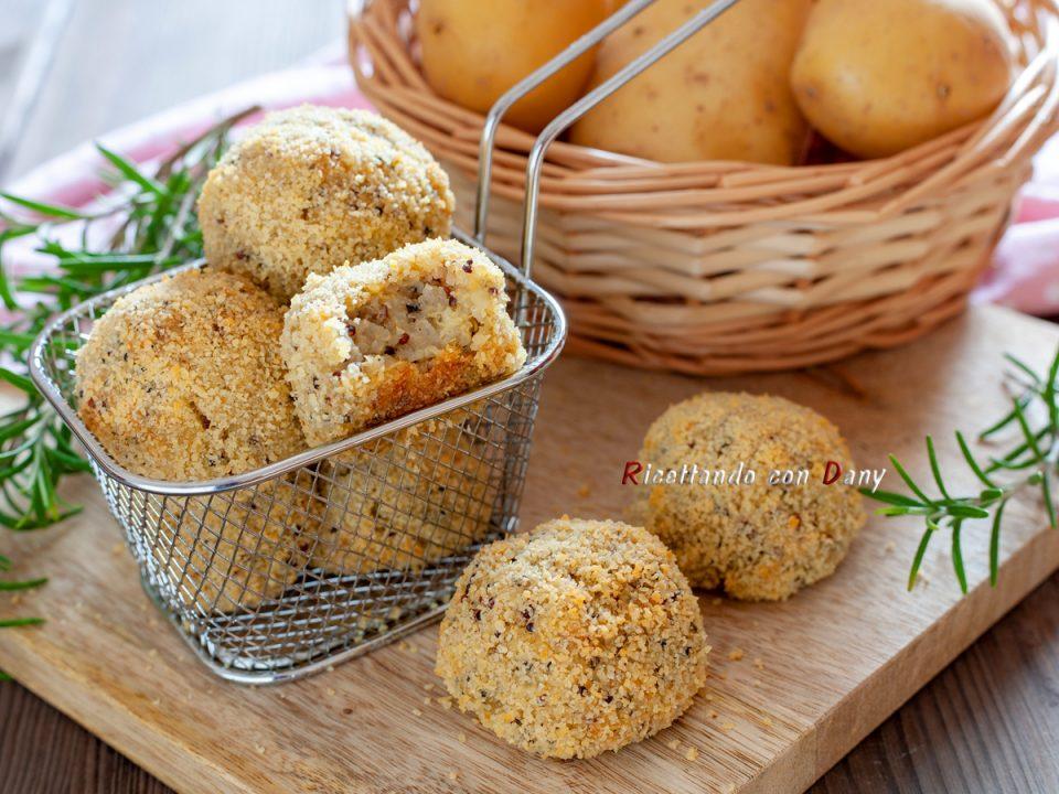 Polpette di quinoa e patate al rosmarino