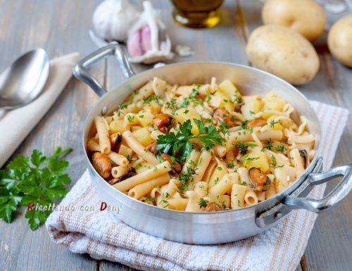 Pasta risottata con patate e cozze