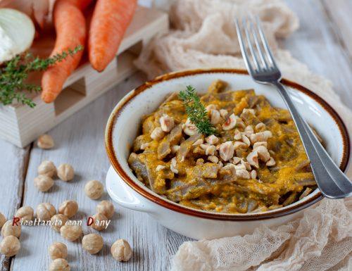 Pizzoccheri alla crema di carote e nocciole