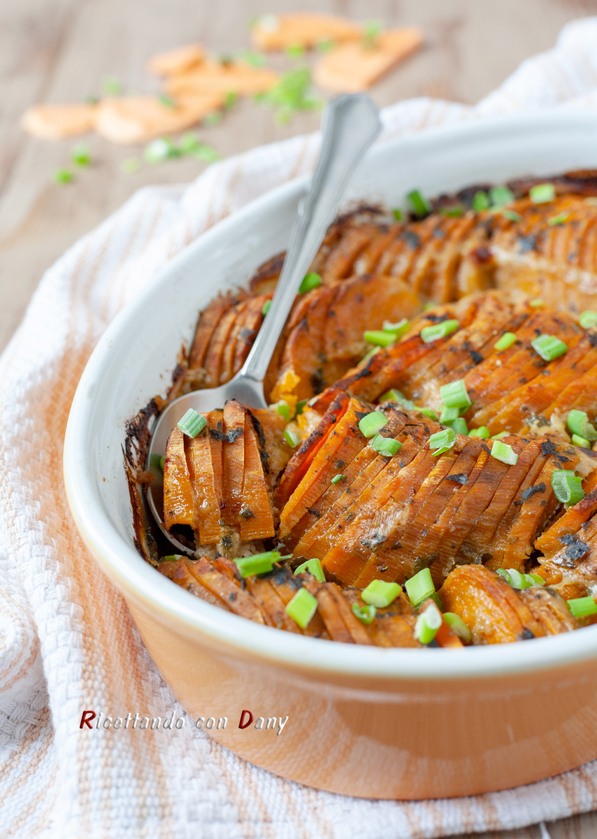 Patate dolci al forno cremose