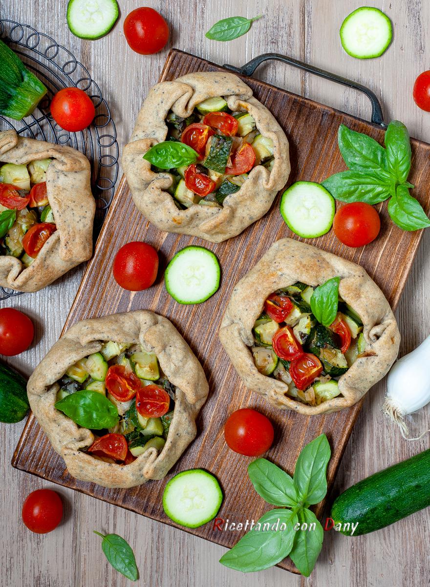 Mini galette vegan alle zucchine