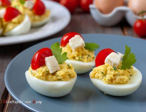 Uova ripiene al gorgonzola